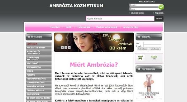 Ambrózia kozmetikum