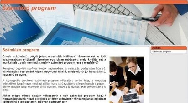Számlázó program